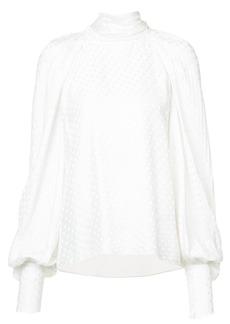 Monique Lhuillier polka dot blouse - White