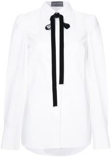 Monique Lhuillier pussy bow shirt - White