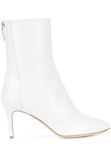 Monique Lhuillier rear zip ankle boots - White