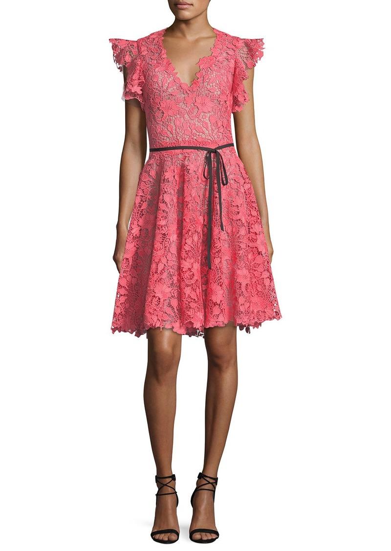 Hermosa Monique Lhuillier Cocktail Dress Festooning - Colección del ...