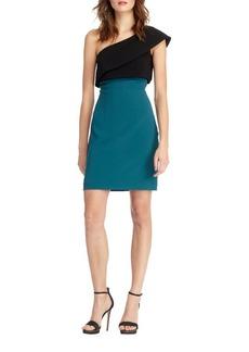 ML Monique Lhuillier Sash One Shoulder Dress