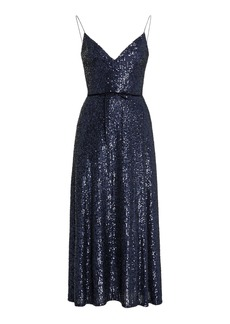 Monique Lhuillier Sequined Slip Dress