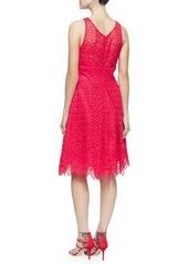 Monique Lhuillier Sleeveless Lace Cocktail Dress
