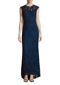Carmen Marc Valvo Infusion Sleeveless Long Gown