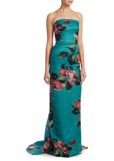 Monique Lhuillier Strapless Column Gown
