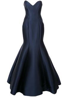 Monique Lhuillier sweetheart mermaid gown - Blue