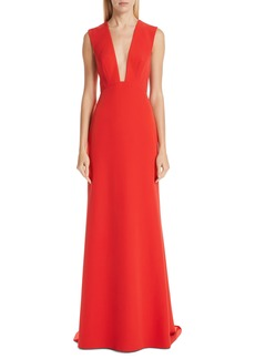 Monique Lhuillier Tie Back A-Line Gown