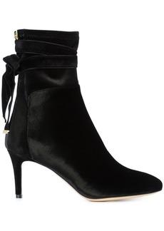 Monique Lhuillier tie detail stiletto boots - Black