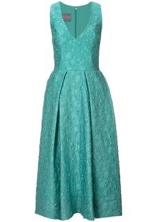 Monique Lhuillier V-neck midi dress - Green
