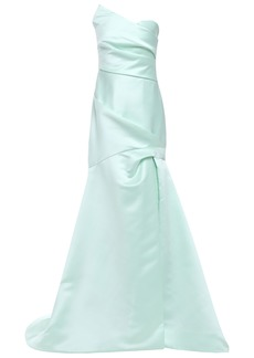 Monique Lhuillier Woman Strapless Fluted Duchesse-satin Gown Mint