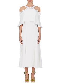 Monique Lhuillier Women's Crepe Cold-Shoulder Midi-Dress