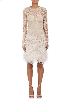 Monique Lhuillier Women's Embellished Shift Dress