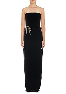 Monique Lhuillier Women's Embellished Velvet Strapless Gown