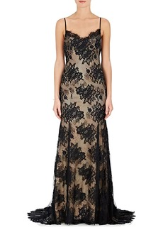 Monique Lhuillier Women's Lace Sleeveless Gown