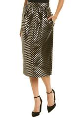Monique Lhuillier Wool-Blend Skirt