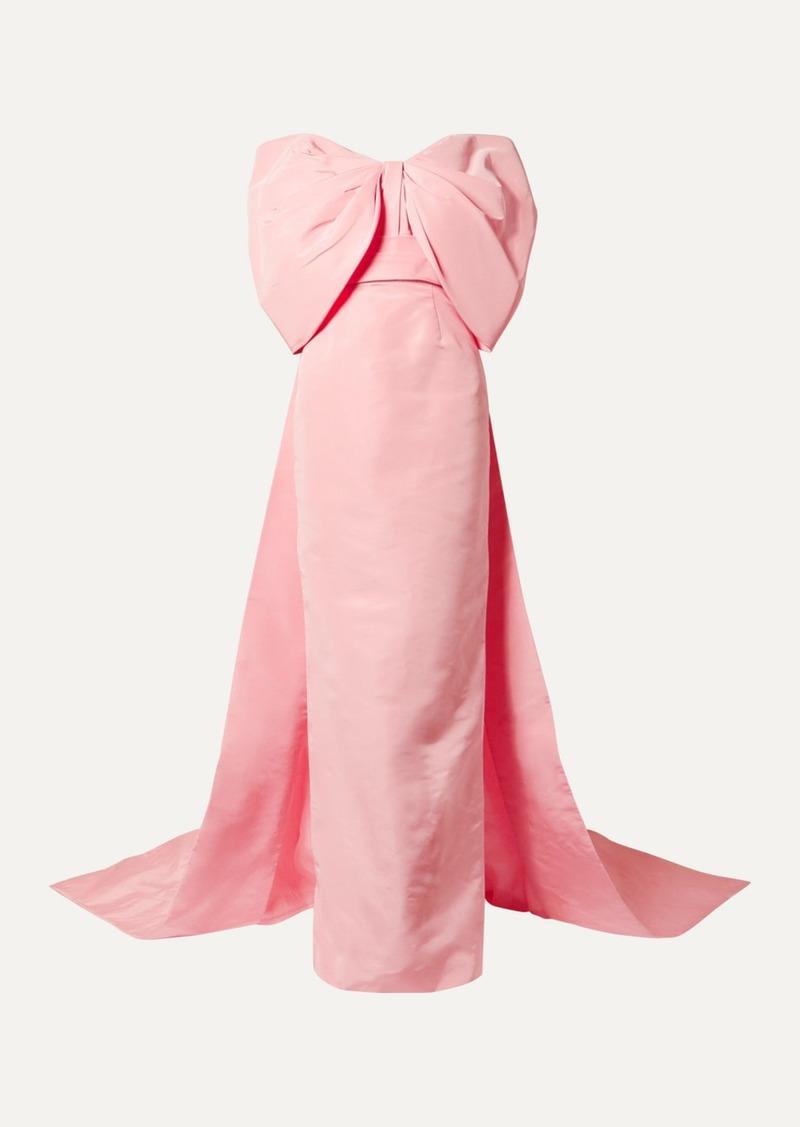 Monique Lhuillier Off-the-shoulder Silk-faille Gown