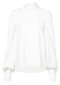 Monique Lhuillier polka dot blouse