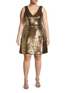 Monique Lhuillier Sequin Cocktail Dress