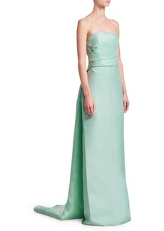 Monique Lhuillier Strapless Column Gown