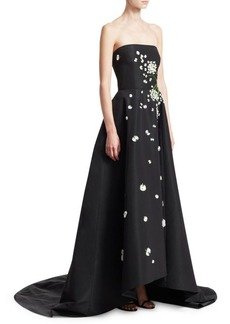 Monique Lhuillier Strapless Embellished Ball Gown