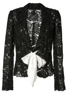 Monique Lhuillier tie-front lace jacket