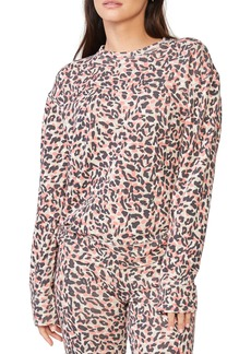 Monrow Animal Print Boyfriend Sweatshirt