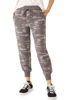 Monrow Camo Jogger Pants w/ Contrast Rib