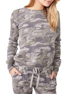 Monrow Camo Raglan-Sleeve Sweater