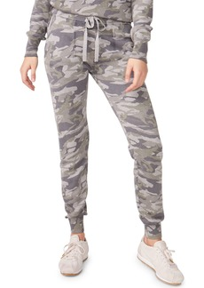 Monrow Camo Sporty Drawstring Sweatpants
