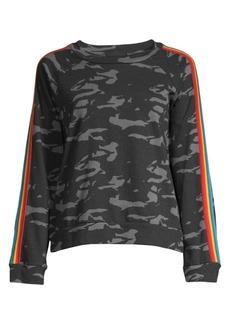 Monrow Camo Vintage Raglan Sweatshirt