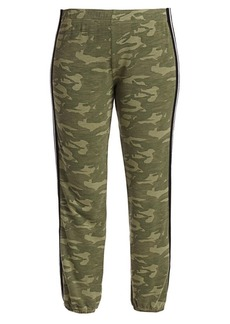 Monrow Camouflage Elastic Racing Stripe Sweatpants
