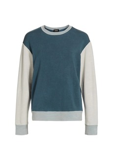 Monrow Colorblock Crewneck Sweatshirt