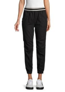 Monrow Cotton-Blend Jogger Pants