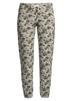 Monrow Cropped Star Camo Jogging Pants