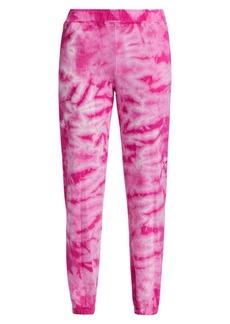 Monrow Crystal Tie-Dye Boyfriend Sweatpants