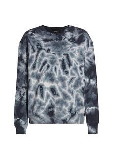 Monrow Crystal Tie-Dye Boyfriend Sweatshirt