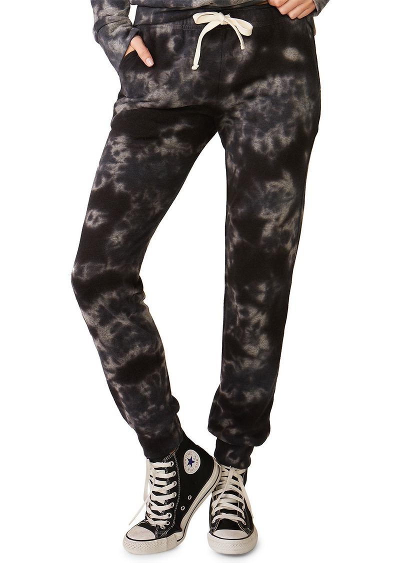 Monrow Crystal Tie-Dye Girlfriend Sweatpants