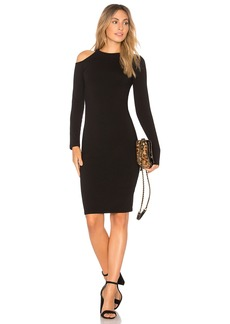 Monrow Cut Out Shoulder Dress