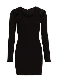 Monrow Cutout Long-Sleeve Dress
