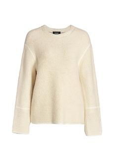 Monrow Faux Shearling Sweatshirt
