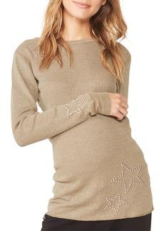 Monrow Maternity Star-Studded Thermal Top