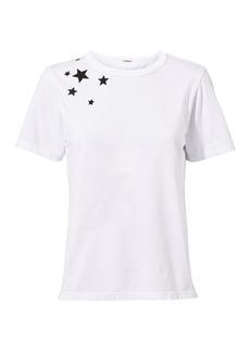 Monrow Star-Embroidered Tee