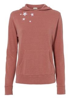 Monrow Star-Embroidered Hoodie
