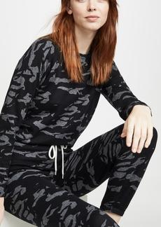MONROW Camo Raglan Sweater