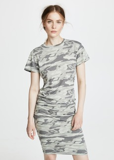 MONROW Camo Shirred Dress