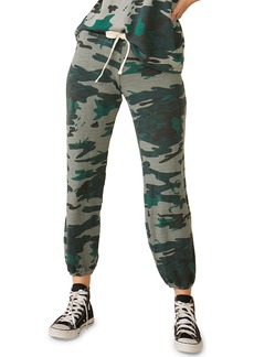 Monrow Camo Stitched Supersoft Vintage Drawstring Sweatpants