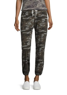 Monrow Camouflage-Print Drawstring Sweatpants