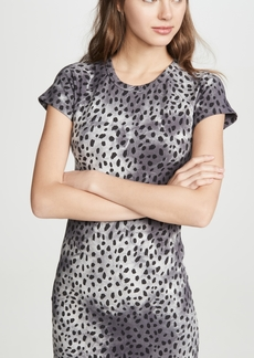 MONROW Cheetah Cap Sleeve Tee Dress