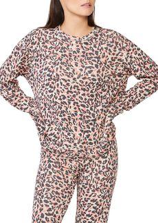 Monrow Cheetah Print Sweatshirt
