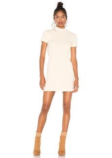 MONROW Chunky Rib Mock Neck Mini Dress
